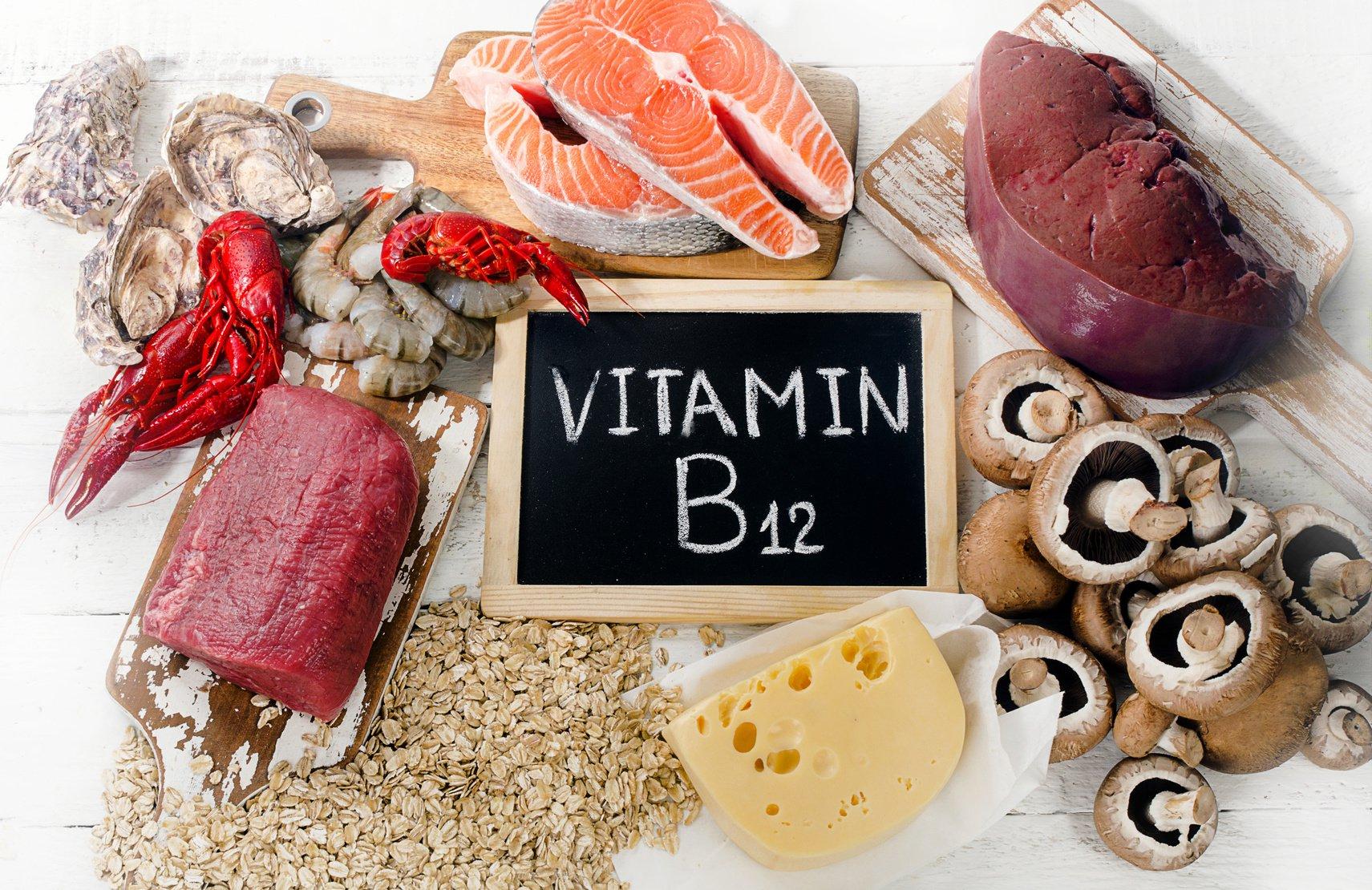 Vitamin B12 có thể được tìm thấy trong các loại thực phẩm như sữa, thịt hay ngũ cốc.