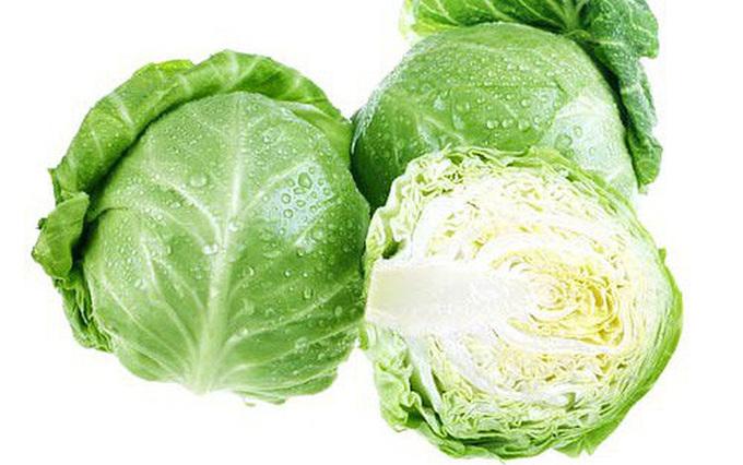 Rau cải bắp tác dụng lợi tiểu, giải độc.