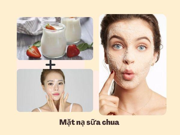 Trị da mặt khô sần bằng sữa chua không đường