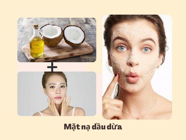Cách trị da mặt khô sần sùi bằng dầu dừa