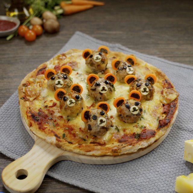 Pizza từ thịt viên dinh dưỡng