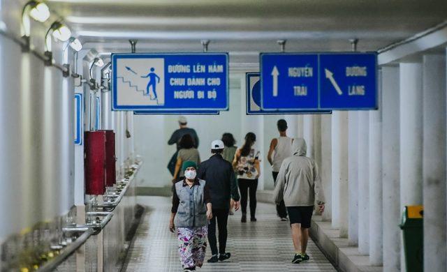 Một trong những địa điểm tập thể dục nguy hiểm là hầm đi bộ