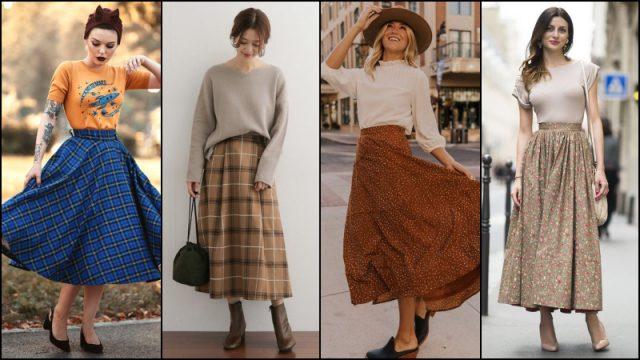 Phiên bản hiện đại hơn của chân váy xòe, hình ảnh những cô nàng đoan trang nữ tính của thập niên 1950