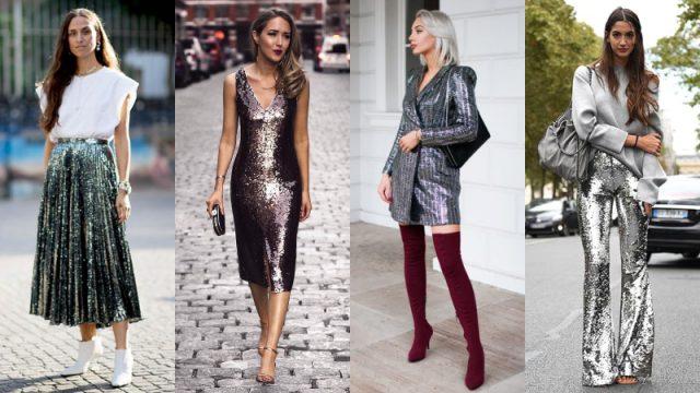 Chắc chắn không còn gì thu hút hơn trang phục ánh kim hoặc đính sequin lấp lánh